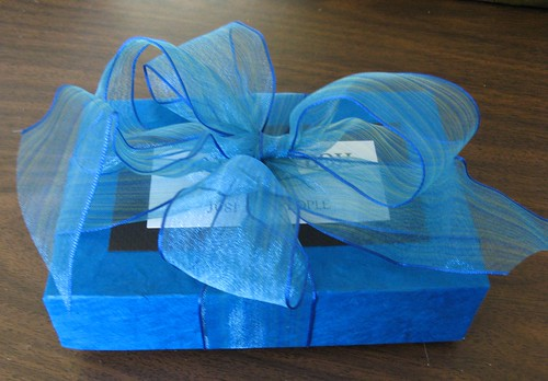 blue box and bow