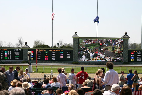 The Keeneland information board