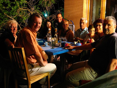 Evening meal with the Gillioz family and friends in Saint Leonard, Switzerland