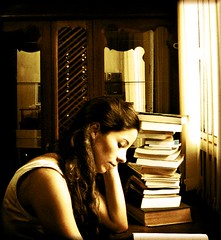 And that's me, enslaved by the books (AnnuskA  - AnnA Theodora) Tags: light brazil portrait topf25 brasil self vintage bravo shadows books topf100 coolest studying topf200 windowlight enslaved thenameoftherose 3000v120f abigfave anawesomeshot firsttheearth diamondclassphotographer lolthebookswerethereandstillareididntstackthem thatisalotofreadingo  congratsonexplore1o watchoutwhileturningthepage world100f ftememberportrait