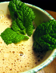 Hot Chocolate with Fresh Mint
