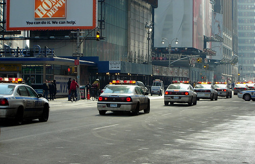 NYPD cars queue by Magnumpi.