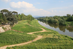 Arno River and Cascine Park