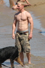 Hot Guy @ The Beach 9 (Chicago Guys) Tags: shirtless hairy chicago beach pecs blond abs