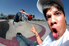 Ooooh! (Taylor Fitz-Gibbon) Tags: arizona funny skateboarding alec fisheye eddie thunderbird