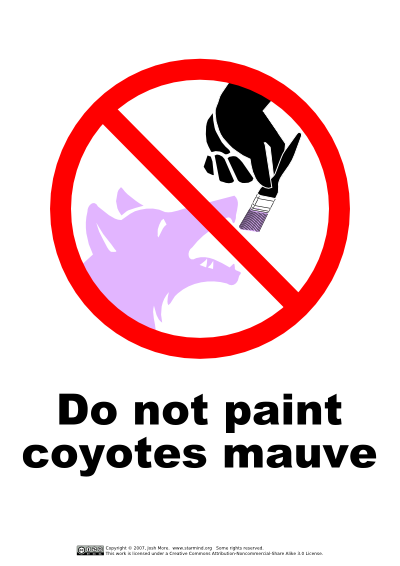 Do not paint coyotes mauve