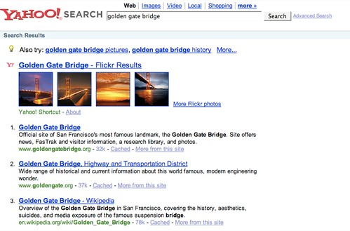 Thomas Hawk Flickr Image highlighted in Yahoo Search