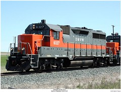 DMV&W GP35R 6327 (Robert W. Thomson) Tags: railroad train diesel railway trains northdakota locomotive trainengine washburn emd gp35 dmvw dakotamissourivalleywestern gp35r