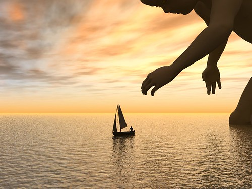 sunset sea sky game water sailboat toy evening boat 3d child play virtual end rendering vueinfinite