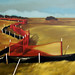 Shelley Mansel Long Red Fence 24x48