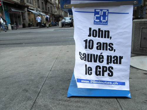 John, saved by THE GPS