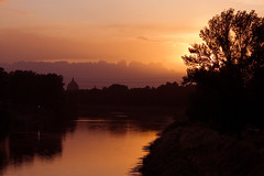 Sunset over the Arno River