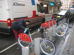 JC Decaux's Bicycle Rentals in Lyon, France (photo courtesy of CBF)