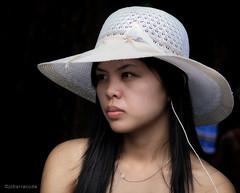 with hat (jobarracuda) Tags: woman hat lumix pinay filipina fz50 panasoniclumix womanwithhat dmcfz50 jobarracuda