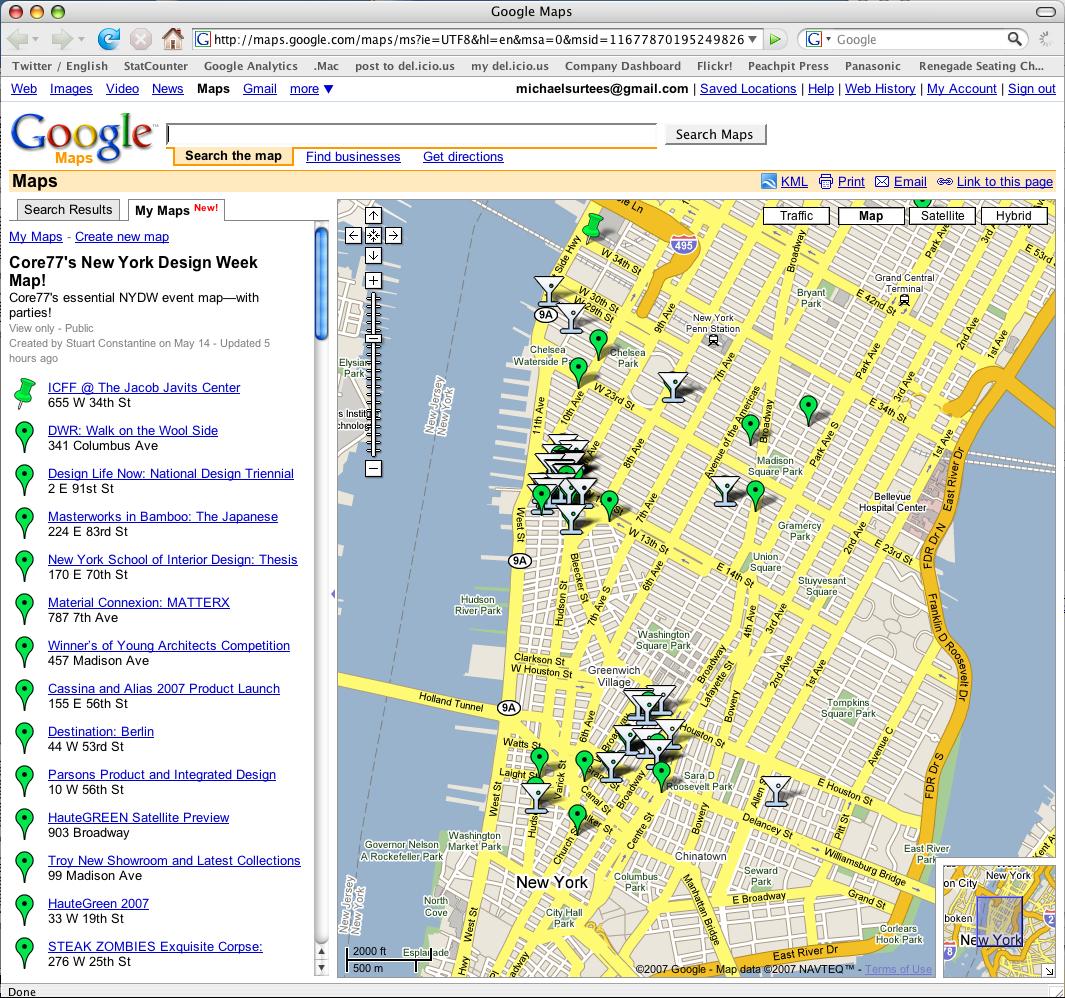 Core77's New York Design Week Map!