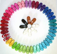 Mary Jane Color Wheel (bluekitty88) Tags: color wheel mary barbie blythe mjs janes dollyshoes