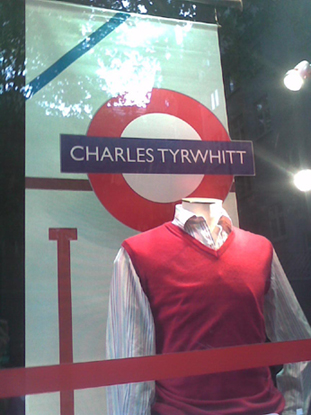 Charles Tyrwhitt shop window taken by Michael W