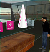 T-Mobile aanwezig op de banenmarkt in Second Life