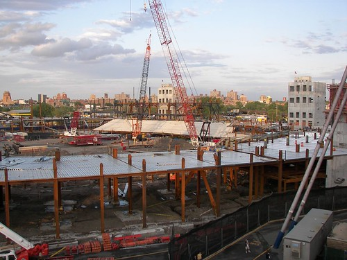 The beginning of the lower level - third base side at Citi Field - May 2007