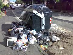Burnt out bins on Edinburgh's Westfield Road (3)