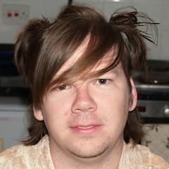 mid-haircut