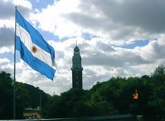 England and Argentina (blmurch) Tags: trees monument argentina clouds buenosaires flag clocktower retiro malvinas scavengerhunt eternalflame project365 photo365 052307 falklandislandmemorial twtmesh08nov07