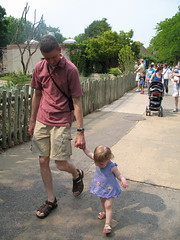Meg and Daddy Walking