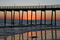 pier sunset (artfilmusic) Tags: ocean sunset beach pier