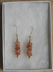 sunstone earrings for Mom