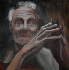 """OLD MAN"" (josko_art) Tags: portrait face painting artcontemporaryart"