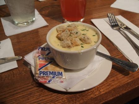 Ale cheddar soup
