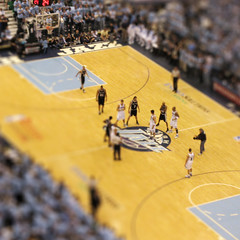 mini basketball (ovalspleen) Tags: west basketball photoshop spurs miniature jazz shift saltlakecity tilt utahjazz tiltshift sanantoniospurs nbaplayoffs tiltshiftfake