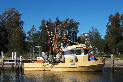 Working boat moored at Brick Wharf Road Woy Woy