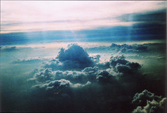 (virg*) Tags: clouds analog xpro aeroplane crossedprocessed top20xpro reallivefilm nopsnobs wayabovetheclouds
