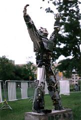 Edgar_1 (Tick Tock Tom) Tags: sculpture art statue standing robot toaster outdoor wires edgar cyborg cyberpunk humanoid scrapmetal museumofscienceandtechnology robotart sprintcomputers robotsculputure