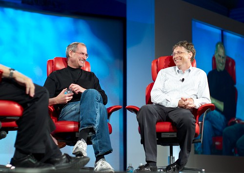 Steve Jobs and Bill Gates by Joi.
