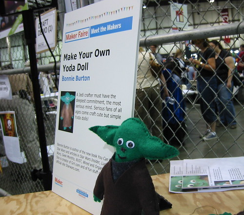 Bonnie Burton's Yoda doll demo at Maker Faire