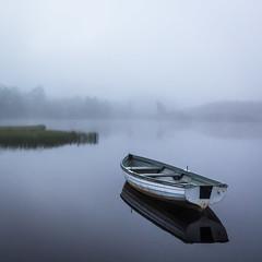 Lastly (rgcxyz35) Tags: trees lochs trossachs mist nationalpark fog boats water lochrusky scotland