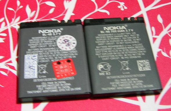 nokia 電池的背面