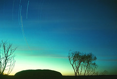 Ayers Rock Southern Cross (Taipan2007) Tags: longexposure red nature rock sunrise star centre australia trail uluru ayers