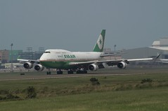EVA Air B747-45EM (CD's Pit) Tags: aviation taiwan boeing  cks  taoyuan b747 tpe  evaair  rctp b16463 minoltaaf1003004556apod km7digital