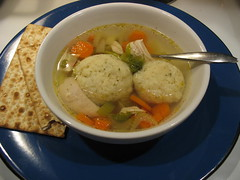 chicken soup with matzo balls (bigsassysmurf) Tags: chicken soup yum balls carrots edible celery passover matzoh