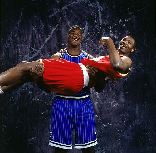 Shaq and Olajuwon best 90s centers
