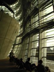 IMG_1980 (SSTUDIO Samuel Bietenholz) Tags: art window glass japan museum tokyo cone interior wave center national fa kurokawa sunblind