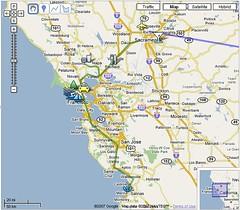 Google My Maps Sacramento Trip