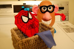 6. Laundry (Kid Continuity) Tags: toys costume spiderman laundry mrpotatohead msh0407 msh04076 spuderman