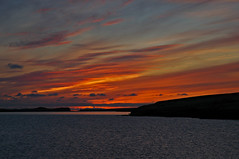 Sunset over the bay (IvarPeturs) Tags: sunset iceland viey