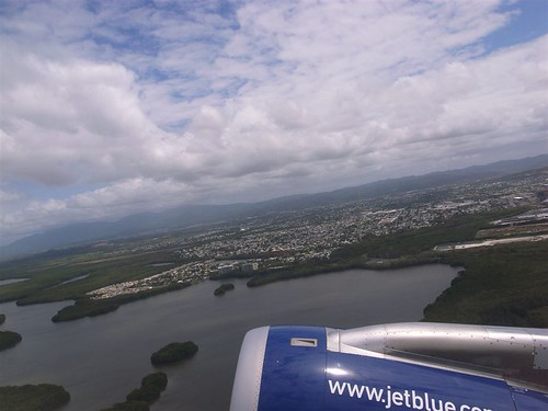 Jetblue over San Juan
