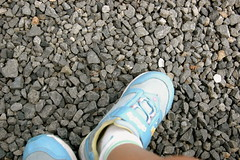 four-year-old with nikon (angie.star) Tags: feet japan temple kyoto tofukuji gravel kotoha childwithcamera