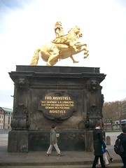 Reiterstandbild August des Starken (Dresden) (Sven Sdwind) Tags: gold dresden saxony august reiter sachsen plinth friedrich horseman kurfrst standbild